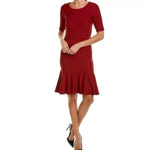 Taylor linear dot sweater dress